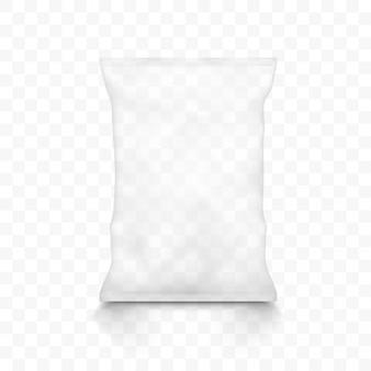 Przezroczyste puste plastikowe torby na przekąski