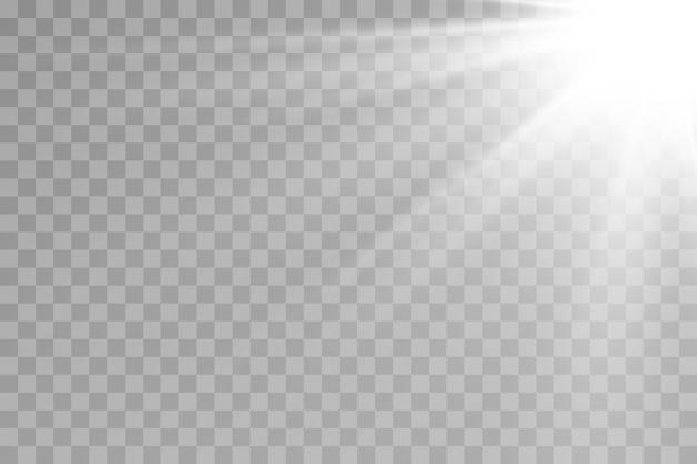 Przezroczyste światło słoneczne efekt światła