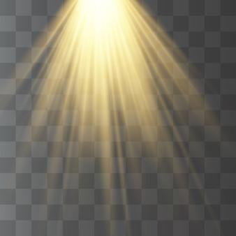 Przezroczyste światło słoneczne, latarka, rozmycie w blasku.