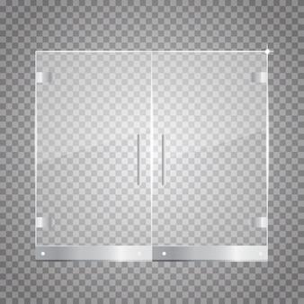Przezroczyste szklane drzwi