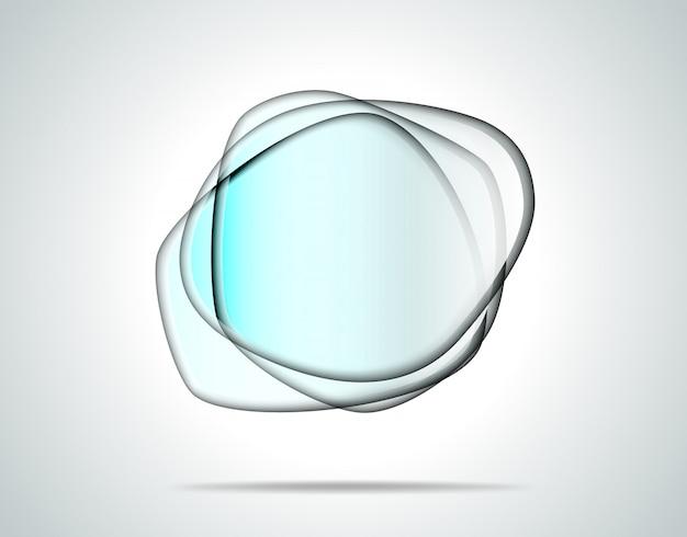 Przezroczyste szklane płytki