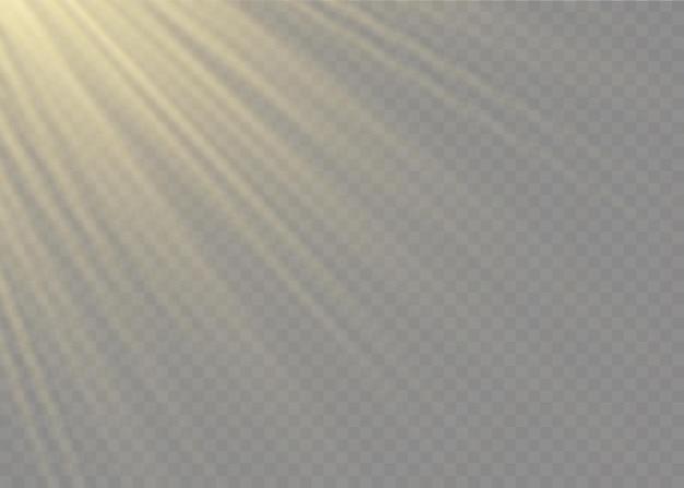 Przezroczysty efekt światła słonecznego ze specjalną soczewką błyskową