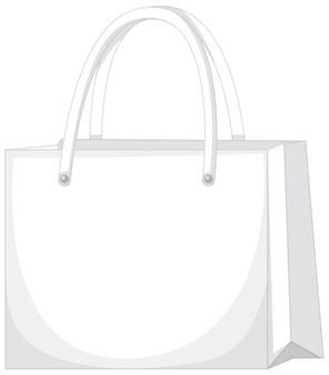 Przód podstawowej białej torebki na białym tle