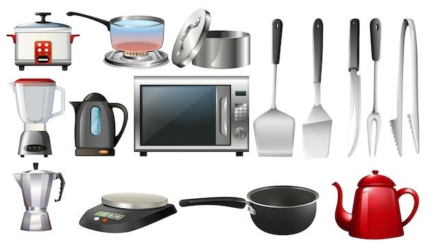 Przybory kuchenne i urządzenia elektroniczne