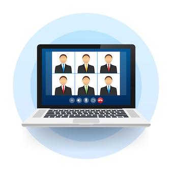 Przychodząca rozmowa wideo na laptopie