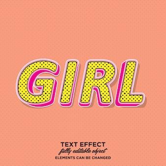 Przyciągające wzrok dziewczęcy styl tekstu