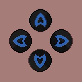 Przycisk bezpośredni ze stylem pixel art
