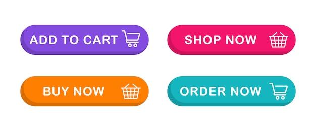 Przycisk dodaj do koszyka przycisk sieciowy z ikoną koszyka na zakupy