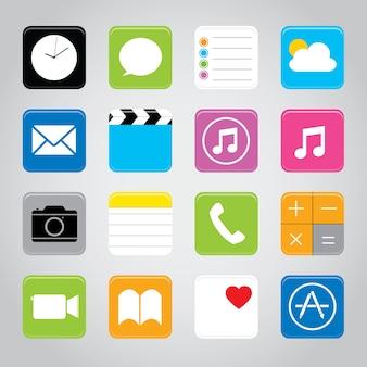 Przycisk ekranu dotykowego telefonu komórkowego przycisk ikona wektor