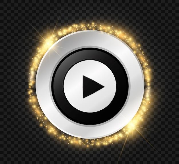 Przycisk odtwórz. ilustracja. ikona przycisku.