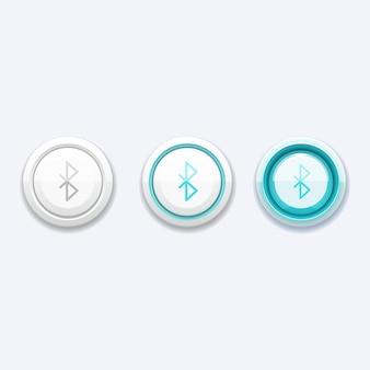 Przycisk sieci komórkowej ze znakiem bluetooth. technologia urządzenia telefonicznego, przycisk komunikacji, aplikacja do przesyłania