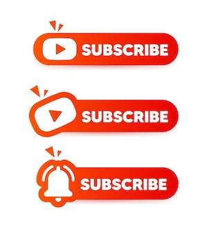 Przycisk subskrypcji. przycisk mediów społecznościowych.