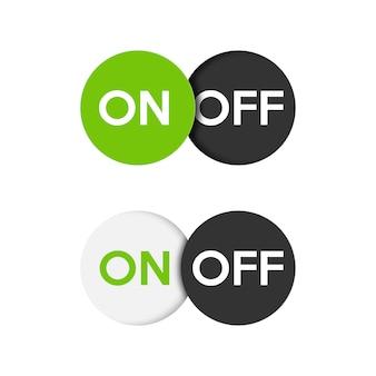 Przycisk włączania i wyłączania ikony.