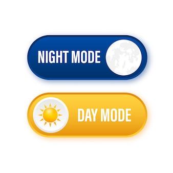 Przycisk z trybem nocnym na ciemnym tle