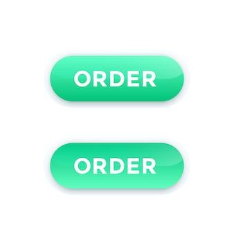 Przycisk zamówienia, wektor
