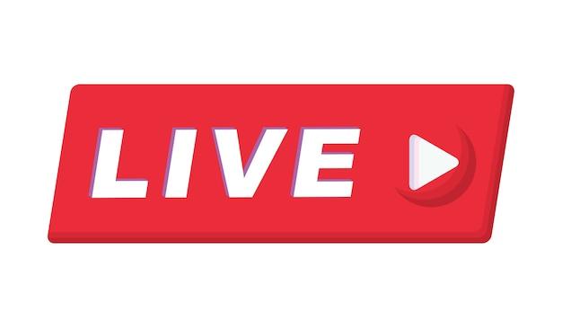 Przycisk znak na żywo transmisji strumieniowej online