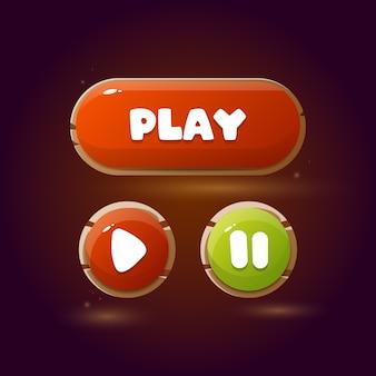 Przyciski do gier mobilnych. projekt gry ui.