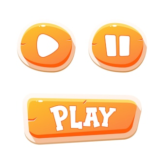 Przyciski do gier mobilnych. projektowanie gry interfejsu użytkownika.