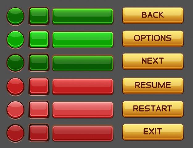 Przyciski do gry pakiet pakietu gui
