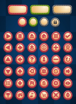 Przyciski gry w paski