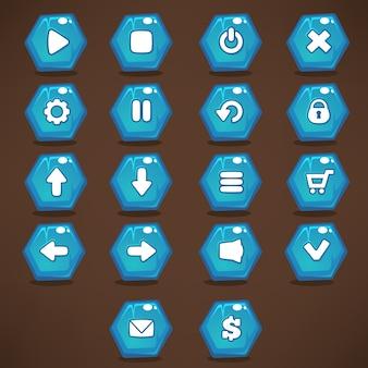 Przyciski interfejsu do gier mobilnych