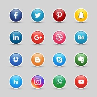 Przyciski mediów społecznościowych