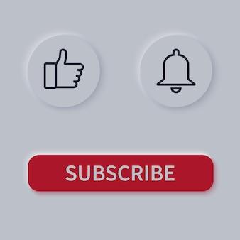 Przyciski subskrypcji. dzwonek i podobny przycisk.