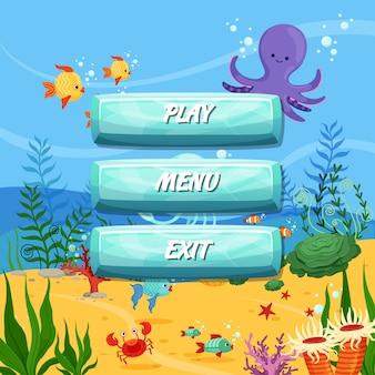 Przyciski z tekstem do gier