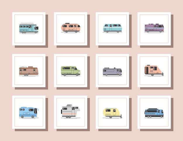 Przyczepy kempingowe i samochody dostawcze