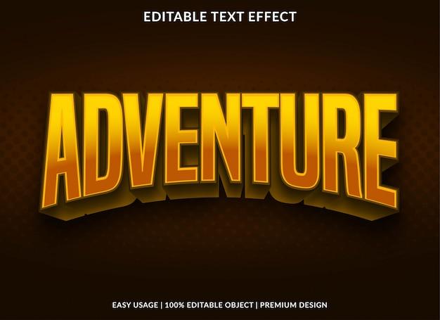 Przygoda edytowalny efekt tekstowy