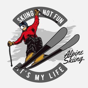 Przygoda na nartach