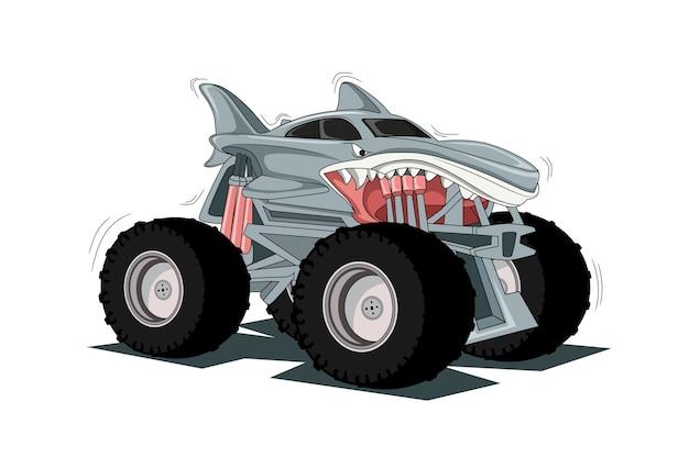 Przygoda off road duży monster truck 4x4 ilustracja