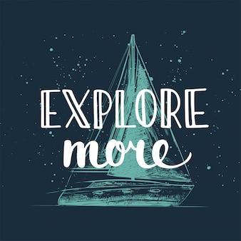 Przygody i podróży ręcznie rysowane typografii