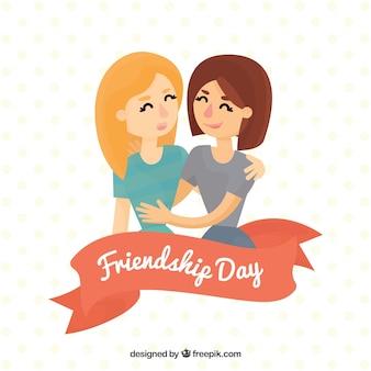 Przyjaciele na zawsze na tle