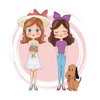 Przyjaciele słodkie dziewczyny