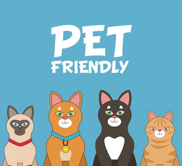 Przyjazne dla zwierząt kreskówki