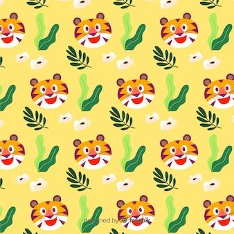 Przyjazny wzór tygrysa