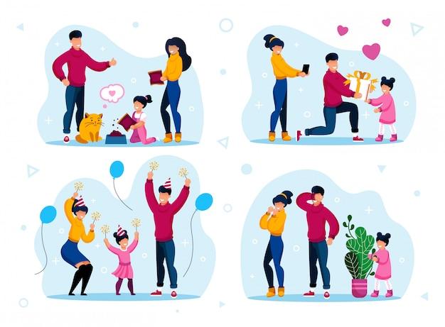 Przyjęcie urodzinowe, gry domowe, obowiązki dzieci