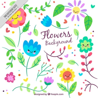 Przyjemne kwiaty tła