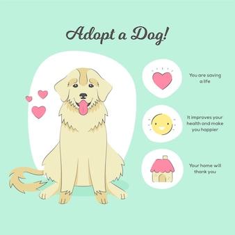 Przyjmij ilustrację psa z korzyściami