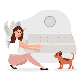 Przyjmij ilustrację zwierzaka