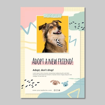 Przyjmij nowy plakat znajomego
