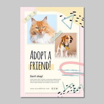 Przyjmij nowy szablon plakatu znajomego