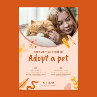 Przyjmij plakat zwierzaka ze zdjęciem