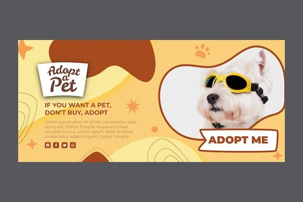 Przyjmij szablon banera dla zwierzaka