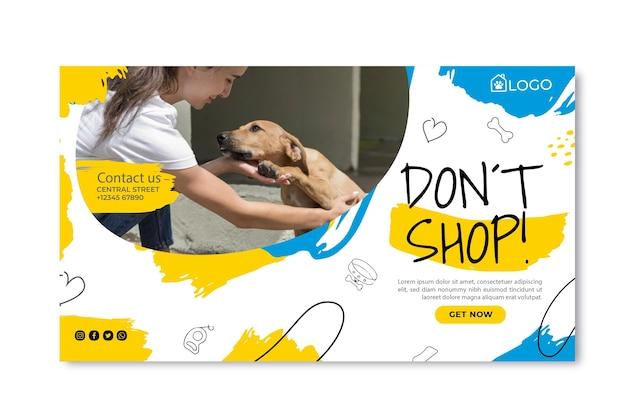 Przyjmij szablon banera dla zwierząt