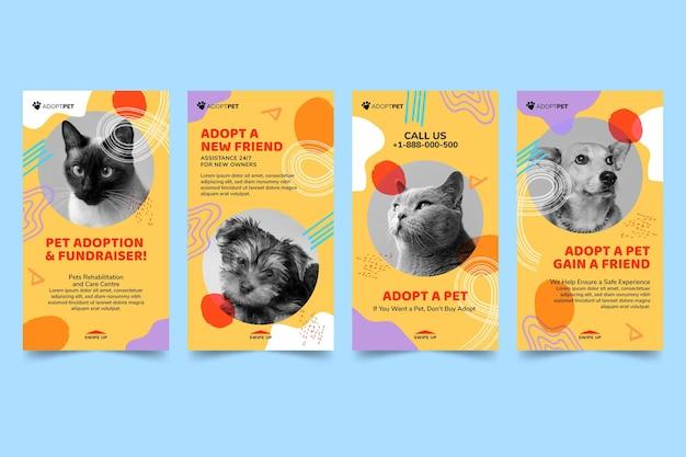 Przyjmij szablon opowiadań na instagramie dla zwierząt domowych