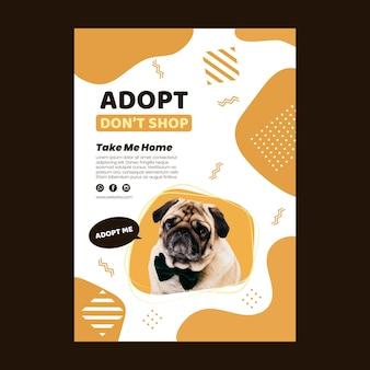 Przyjmij szablon pionowego plakatu zwierzaka