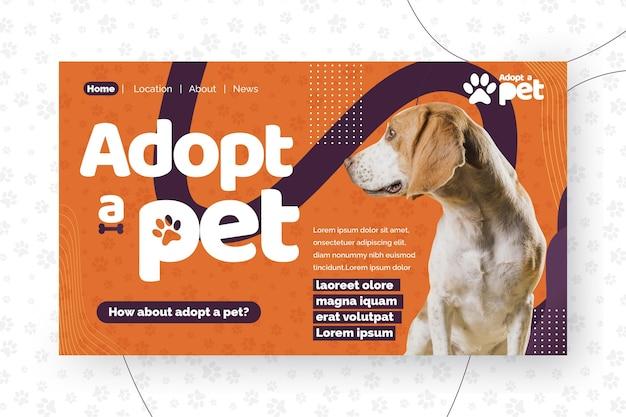 Przyjmij szablon strony docelowej dla zwierząt domowych