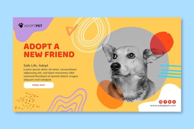 Przyjmij Szablon Transparentu Dla Zwierząt Domowych Darmowych Wektorów